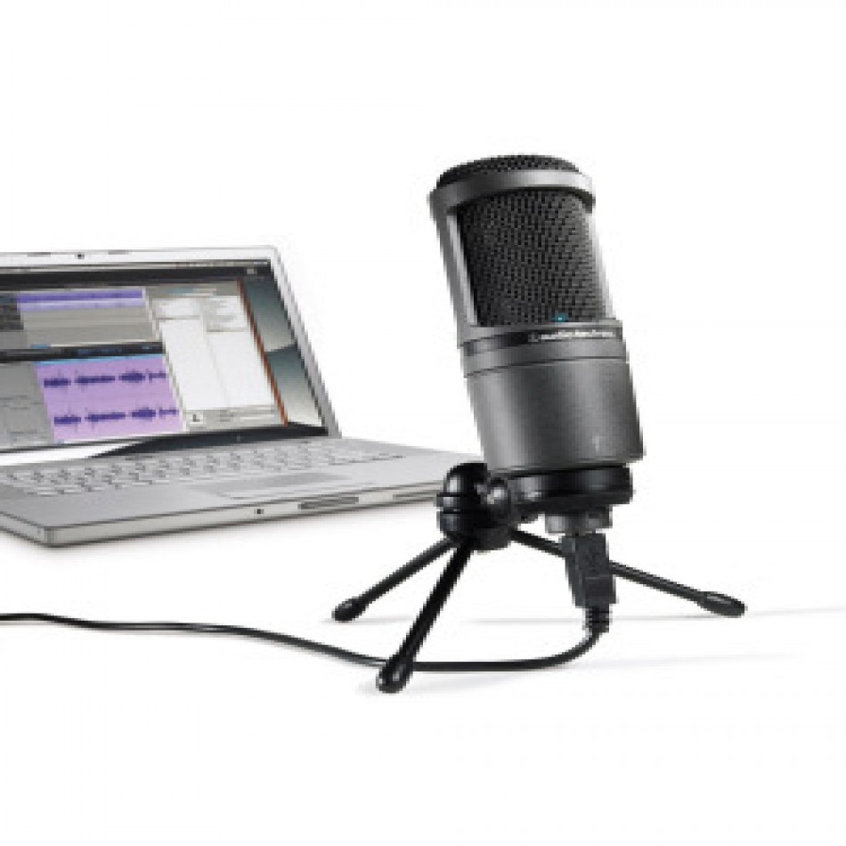 audio technica at2020 usb mic review