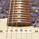Fretboard radius image on a Fender Stratocaster Electric Guitar
