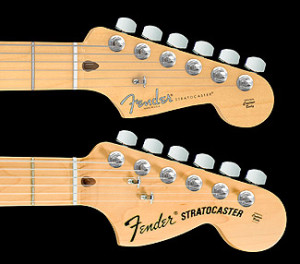 Fender Stratocaster Pre CBS and CBS-era headstocks