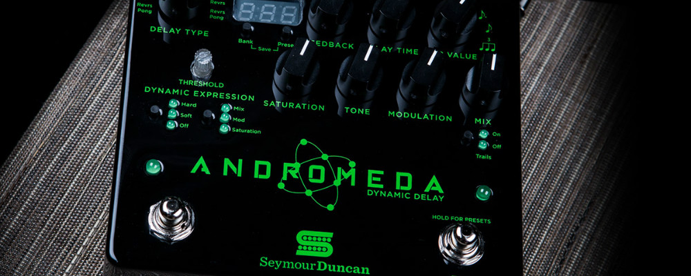 Closer Look At The New Seymour Duncan Andromeda Delay Guitar Effects Pedal