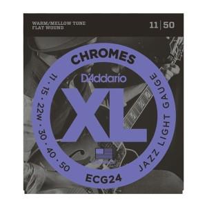 D'Addario XL Chromes electric guitar flat wound strings